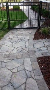 Brick entry path