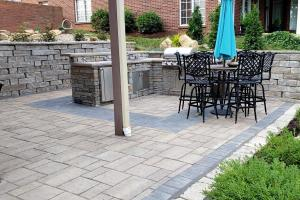 large patio outdoor eating area