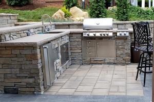 Outdoor patio grill