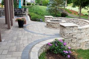 Rounded patio