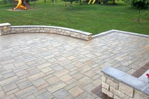 large rounded patio