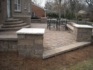 patio with stairs