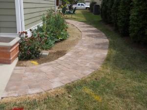 side brick pathway