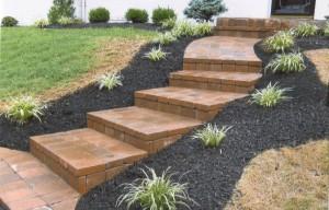 brick landscaped walkway