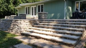 wide stone steps