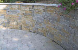 tall rounded retaining wall